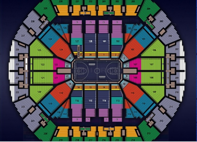 Warriors Seating Map